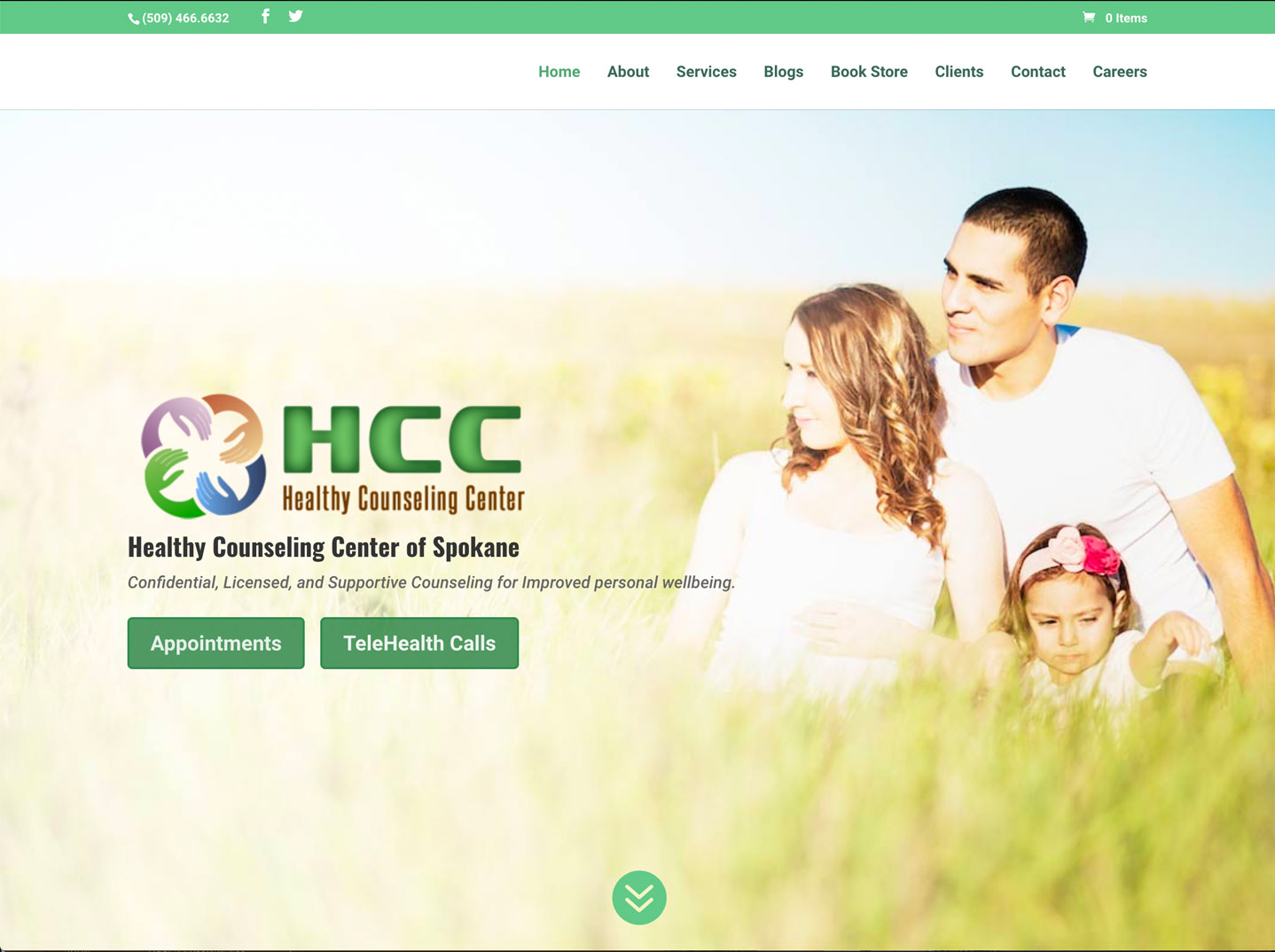 Healthy Counseling Center website